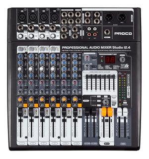 Proco Studio 12.4 Consola Interface Usb 8 Canales Efectos