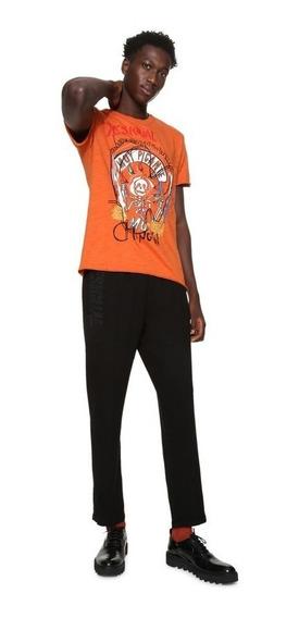 Playera Caballero Textil Naranja Desigual