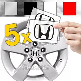5x Emblema Adesivo Calotinha Tampa De Roda Honda Civic Crv