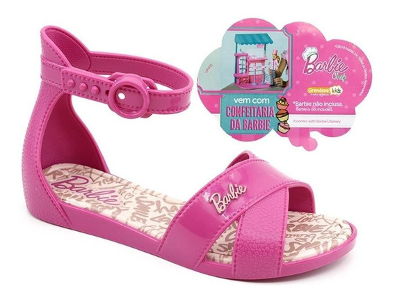 Sandália Infantil Barbie Confeitaria - 23 Ao 34