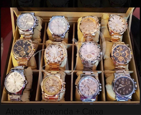 Relógios Sociais Masculinos - Kit C/5 + Caixa