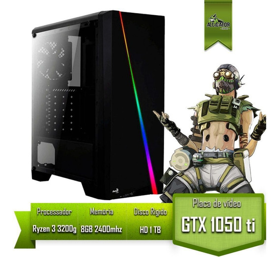 Pc Gamer Alligator Gaming Amd Ryzen 3 3200g / Gtx 1050 Ti 4gb / 8gb 2400mhz / Hd 1tb