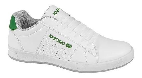 Tenis Casuales Karosso1952 D160042 Blanco Envio Gratis Msi