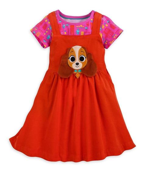 Vestido Niña Disney Store La Dama Y El Vagabundo Original