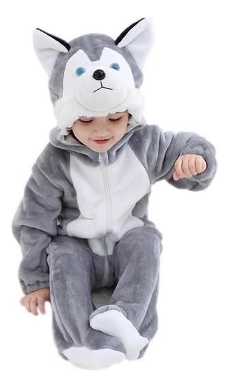 Mameluco Bebé Husky O Lobito Pijama Kigurumi Envío Gratis!