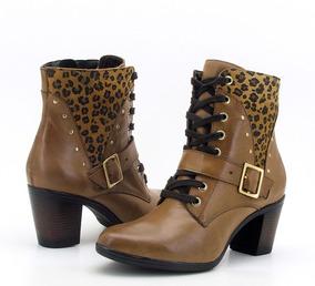 Bota Feminina Couro Legitimo Super Confortável Atron Shoes