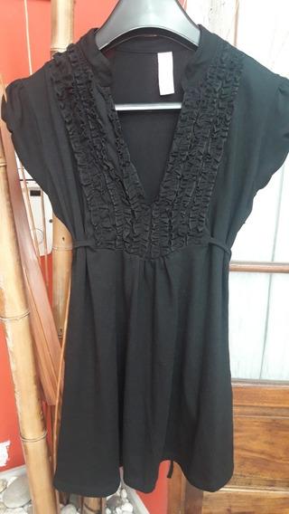 Remera Negra Talle 40 Con Opcion De Entalle En La Cintura