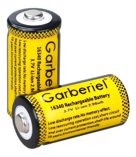 Pilas Cr123a Garberiel 1800mah 3.7v 16340 Recargables Batery
