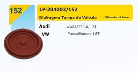 Diafragma Tampa Válvula Passat Variant A3 A4 Tt 1.8 61mm