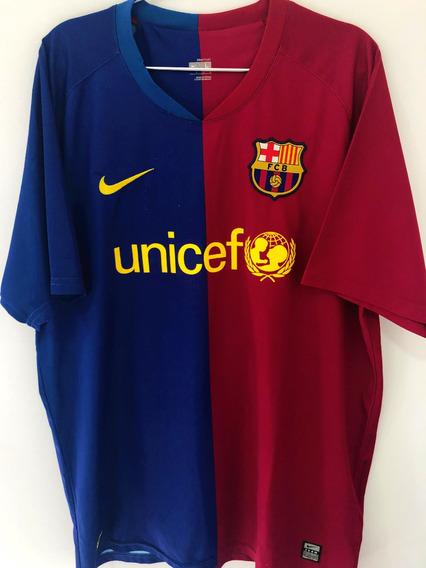 Camisa Barcelona 2008 09 Ibrahimovic 9 Uniforme 1 Mercado Livre