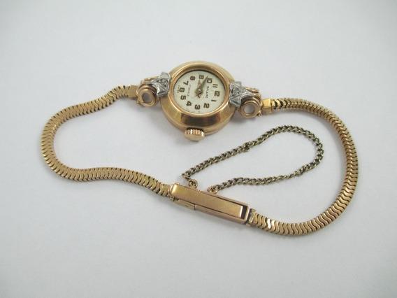 Antigo Relógio Feminino - Caixa E Pulseira Em Ouro 18k