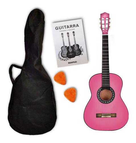 Imagen 1 de 9 de Guitarra Criolla 3/4 Niños Clásica Con Funda Varios Colores