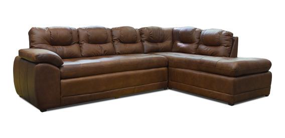 Sala 100% Piel - Verona / Esquinera Sofa Y Cheise - Conforto