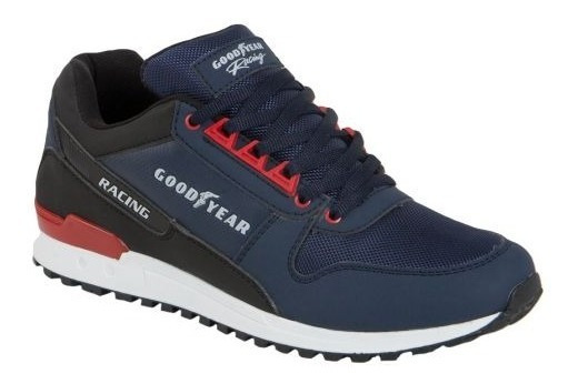 Tenis Casual Goodyear Racing 3794 De Niño Color Azul