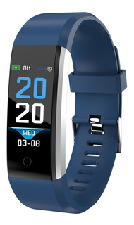 Reloj Inteligente Smartwatch 115 Bluetooth Android Ios Azul