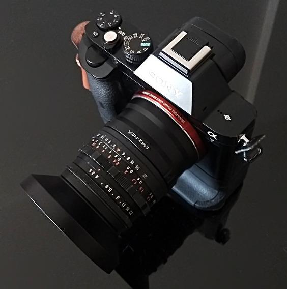 Lente Isco Westron 35mm F3.5 -rosca M42 + Adaptador Sony Nex