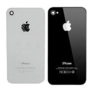 Tampa Traseira Vidro iPhone 4 Preta Fundo Original