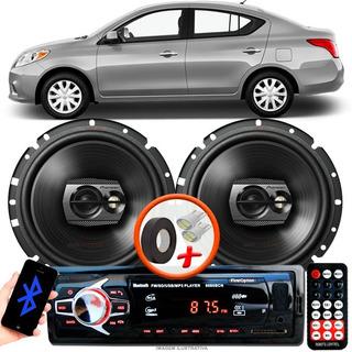Som Automotivo Carro Versa Sed Radio Mp3 C/ Bluetooth + 2 Alto Falante Pioneer T 6