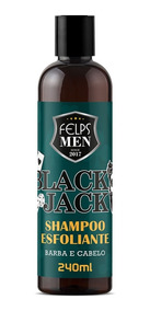 Shampoo Esfoliante Black Jack Felps Men Barba E Cabelo 240ml