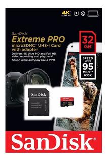 Cartão Microsd Sandisk Extreme Pro 32gb