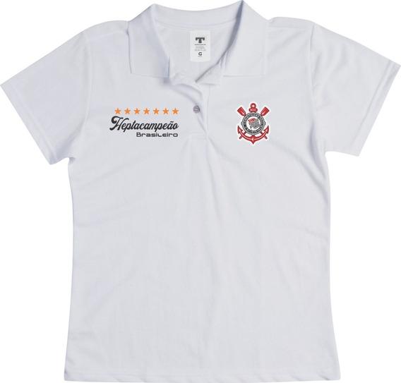 Camisa Polo Feminina Do Corinthians