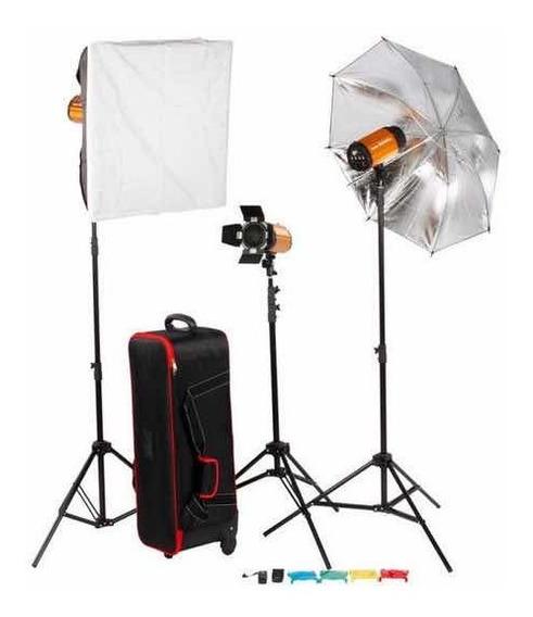 Kit Iluminação Studio Fotográfico Godox 250sdi