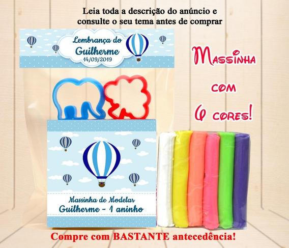 30 Kit Massinha Balão De Ar Quente + Moldes Personalizado