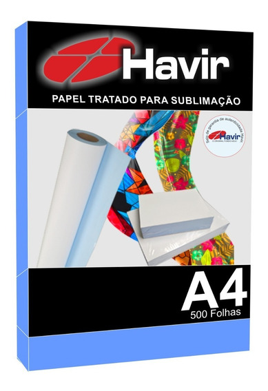 Papel Havir Transfer Sublimático 500fls A4 Fundo Azul