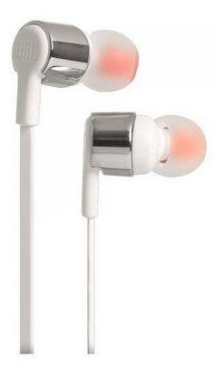 Fone De Ouvido Jbl T210 Original Branco Microfone In Ear