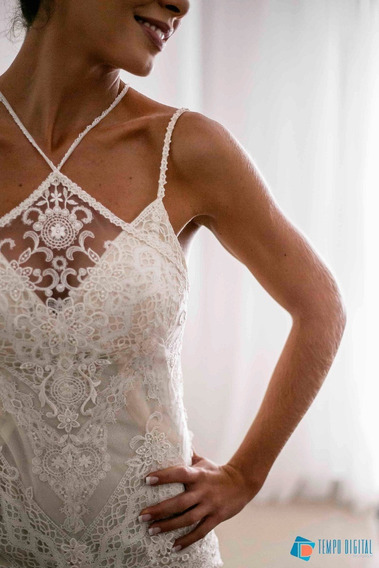 Vestido De Noiva - Yolan Cris - Renda Martinaca - 1 Uso