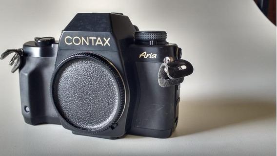 Baixou!! Câmera Contax Aria 35mm Filme Fotografico
