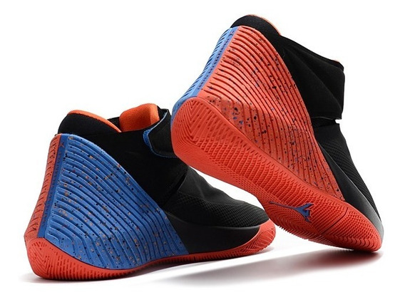 Tenis Jordan Why Not Zer 0.1 Negro C/azul,naranja #6 Al 7.5