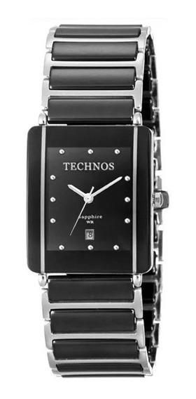 Relógio Technos Ceramic Safira 1n12acpai/1p 12x S/j Frete G.