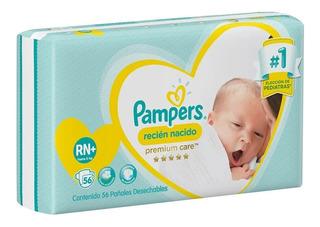 56 Pañales Pampers Premium Care Recién Nacido (3 A 6 Kg) Rn+