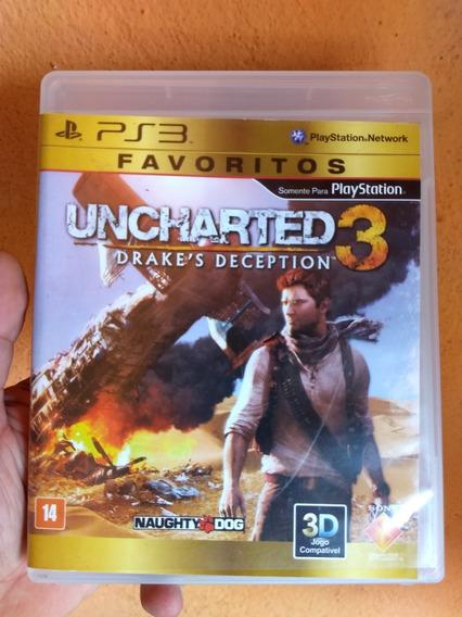 Uncharted 3 Original Ps3 Midia Física Semi Novo