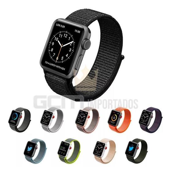 Pulseira Nova Nylon Loop Compatível C/apple Watch E Iwo