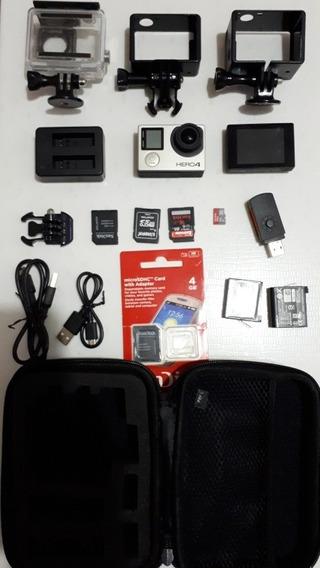 Câmera Digital Gopro Hero4 Silver + Vários Acessórios