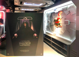 Hot Toys Star Wars Emperor Palpatine Deluxe Con Trono 1/6