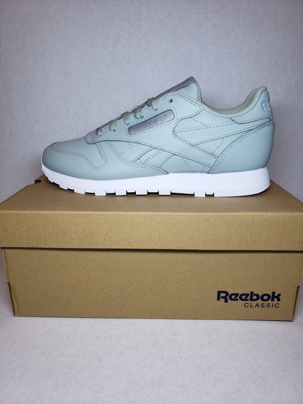 Tenis Reebok Classic Leather Color Menta