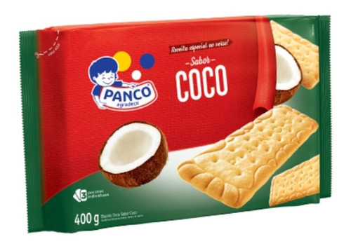 Biscoito Coco Panco 400 Grs
