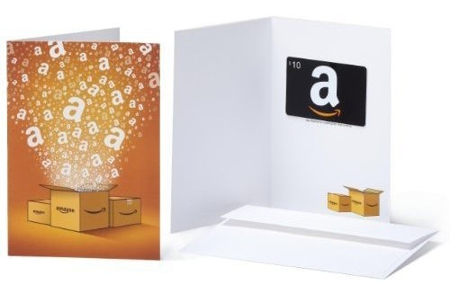 Tarjeta De Regalo De Amazon.com $10 En Una Tarjeta De