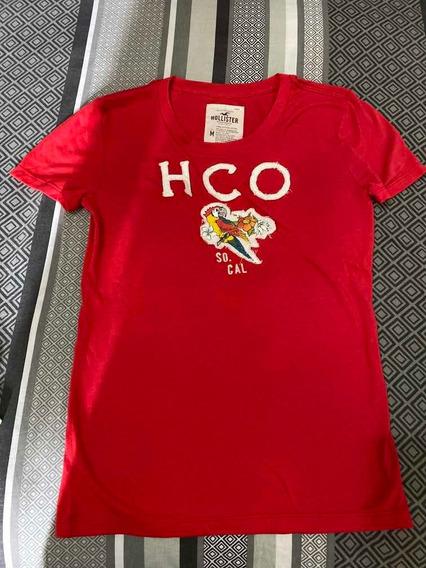 Camiseta Hollister Tamanho M 100% Algodão