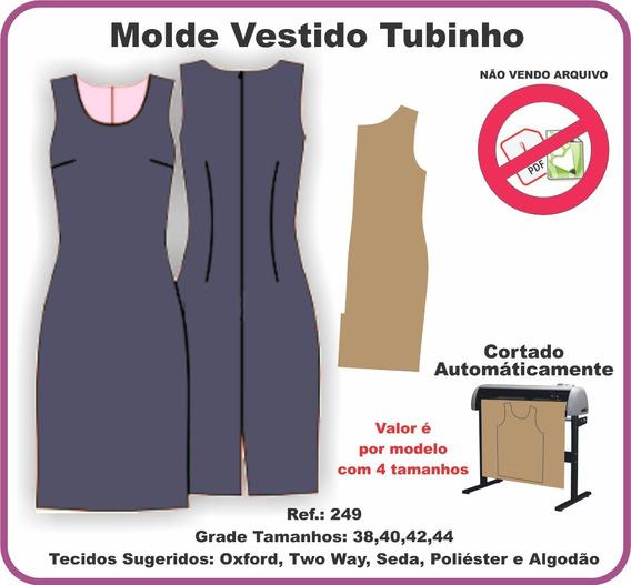 Molde Vestido Tubinho 249