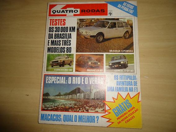 Revistas Quatro Rodas Nº.234,235,236,237 Ano 80 Envio Grátis