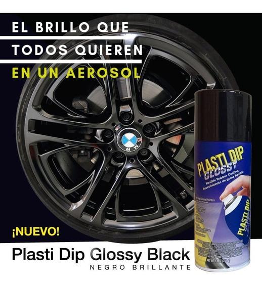 Plasti Dip Negro Brillo Aerosol Vinilo Tuning Llantas