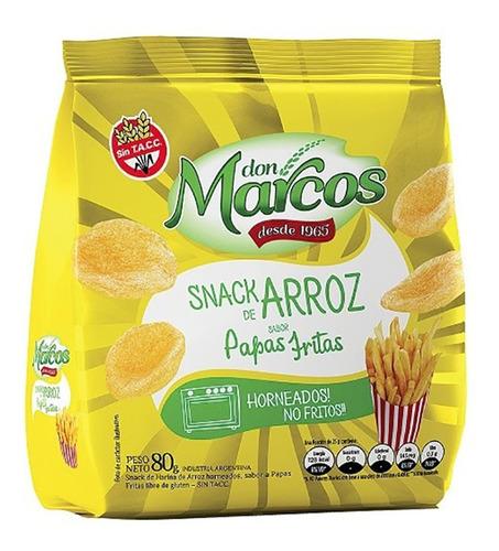 Snacks De Arroz Sabor Papas Fritas Don Marcos
