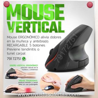Mouse Vertical Ergonómico Inalámbrico Recargable