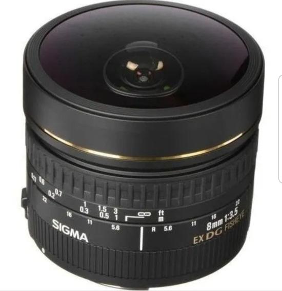 Lente 8mm Sigma Canon