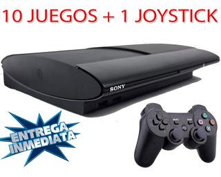 Playstation 3 Sony + 1 Joystick 10 Juegos Ps3 Original