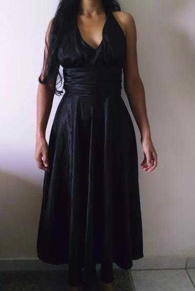 Vestido Preto Longo Tamanho P Pouco Usado, Vestido De Festa